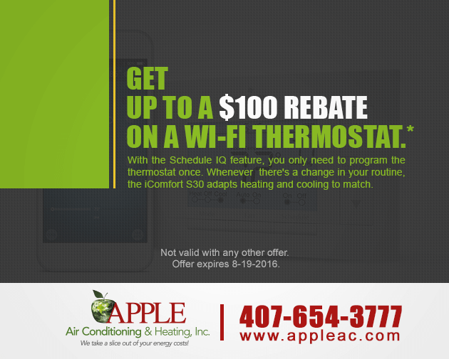 $100 rebate on a wi-fi thermostat