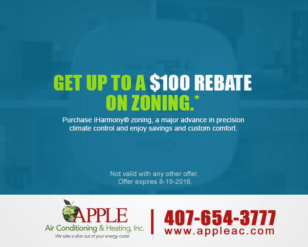 $100 rebate on zoning